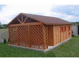 Domek drewniany 450x700cm