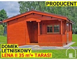 DOMEK W10B 6x8 - 45mm - 6x6 + taras z wc 6x2m - 4 pomieszczenia