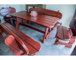 MEBLE MM15 - stół x1, ławka x2, krzesło x2